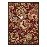 Nourison Graphic Illusions Unique Floral Rug