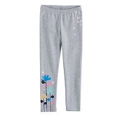 Girls 4-10 Jumping Beans® Floral Graphic Leggings