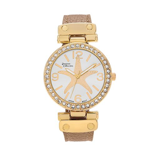 Journee Collection Women's Crystal Starfish Watch