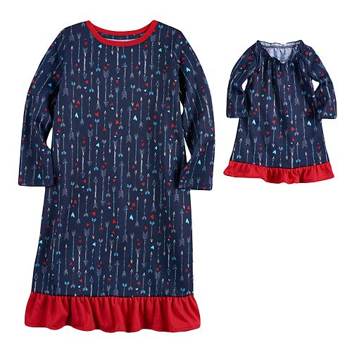 Toddler Girl Jammies For Your Families Arrow & Hearts Gown Set