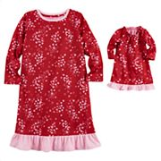 Toddler Girl Jammies For Your Families Hearts Gown Set