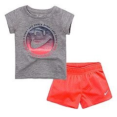 Toddler Girl Nike 'Have a Nike Day' Glittery Graphic Tee & Mesh Shorts Set