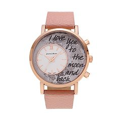 Journee Collection Women's 'I Love You to the Moon and Back' Watch