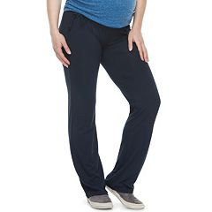 Maternity a:glow Mid Belly Panel Straight-Leg Pants
