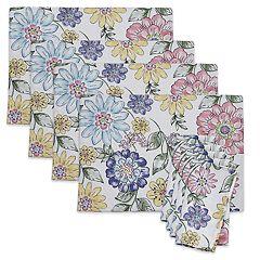Celebrate Spring Together Floral Print Placemat 4 pk& Napkin 4 pk