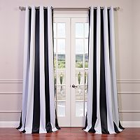 EFF Awning Striped Grommet Blackout Window Curtain