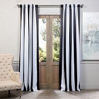 EFF Awning Striped Rod Pocket Blackout Window Curtain