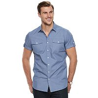 Big & Tall Apt. 9® Premier Flex Modern-Fit Stretch Woven Button-Down Shirt