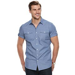 Big & Tall Apt. 9® Premier Flex Modern-Fit Stretch Woven Button-Down Shirt