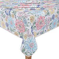 Celebrate Spring Together Floral Print Tablecloth & Napkin 4-pk.