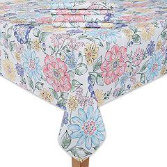 Celebrate Spring Together Floral Print Tablecloth & Napkin 4 pk