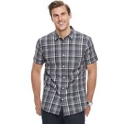 Big & Tall Apt. 9® Premier Flex Plaid Modern-Fit Stretch Woven Button-Down Shirt