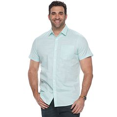 Big & Tall Apt. 9® Premier Flex Plaid Modern-Fit Stretch Woven Button-Down Shirt