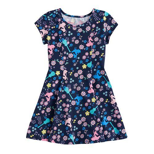 Disney's Elena of Avalor Girls 4-10 Curved Seam Skater Dress by Jumping Beans®
