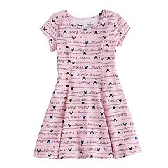 Disney's Minnie Mouse Girls 4-10 Curved Seam Skater Dress by Jumping Beans®