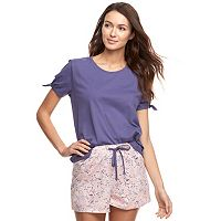 Women's SONOMA Goods for Life™ Tee & Shorts Pajama Set