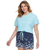 Plus Size SONOMA Goods for Life™ Tee & Shorts Pajama Set