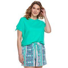 Plus Size SONOMA Goods for Life™ Tee & Shorts Pajama Set
