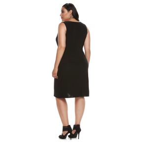 Plus Size Jennifer Lopez Twist Drape Dress