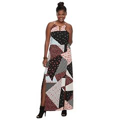Plus Size Juniors' Candie's® Print Halter Maxi Dress