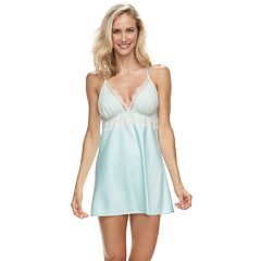 Women's Flora by Flora Nikrooz Lace-Trim Charmeuse Satin Chemise