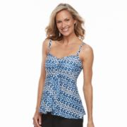 Women's Croft & Barrow® Crochet Flyaway Bandeaukini Top