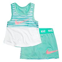 Toddler Girl Nike Logo Graphic Tank Top & Skort set