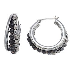 Simply Vera Vera Wang Beaded Triple Hoop Nickel Free Earrings