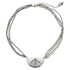 Simply Vera Vera Wang Geometric Link Multi Strand Necklace