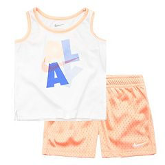 Toddler Girl Nike Graphic Tank Top & Mesh Shorts Set