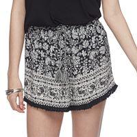 Juniors' Mudd® Print Tassel Soft Shorts