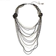 Simply Vera Vera Wang Knotted Chain Layered Necklace