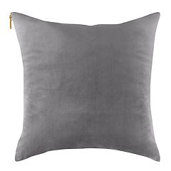 Velvet Feather Fill Zippered Throw Pillow