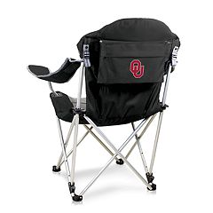 Picnic Time Oklahoma Sooners Reclining Camp Chair