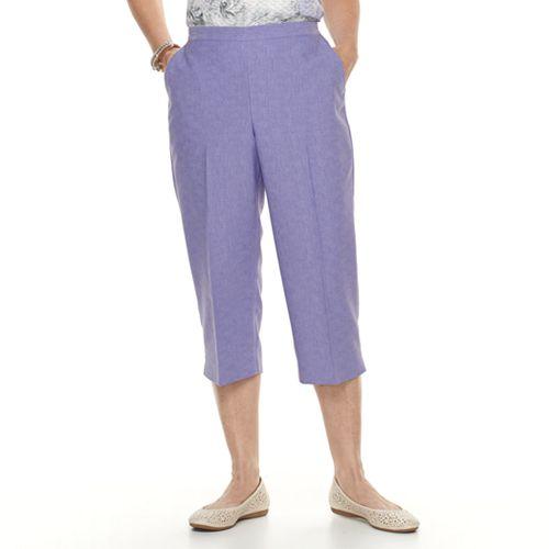 e911ba45fa1a8 Petite Alfred Dunner Studio Pull-On Capri Pants