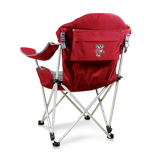 Picnic Time Wisconsin Badgers Reclining Camp Chair