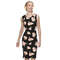 Juniors' Almost Famous Floral Cutout Bodycon Dress