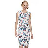 Juniors' Almost Famous Floral Cutout Bodycon Dress