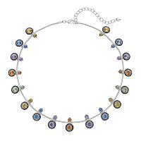 Napier Simulated Crystal Station Necklace