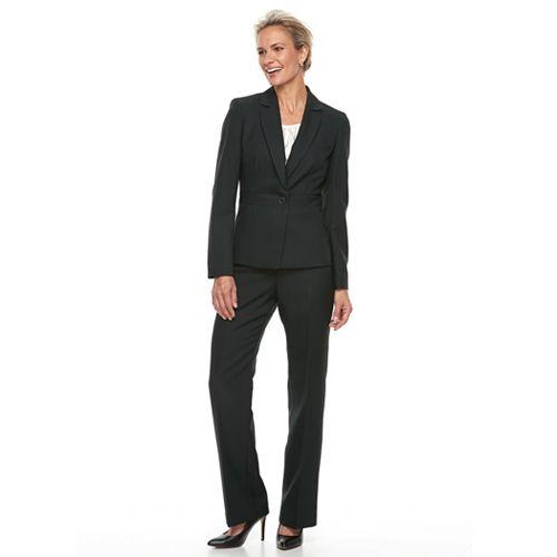 Women's Le Suit Notch Lapel Pant Suit Set