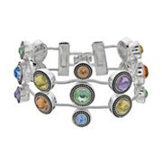 Napier Simulated Crystal Multi Strand Bracelet