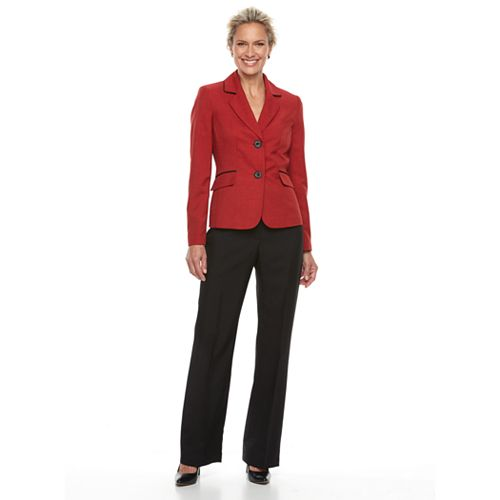 Women's Le Suit Double Button Notch Lapel Suit Set