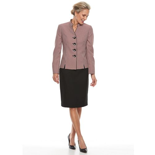 Women's Le Suit Tweed Skirt Suit Set