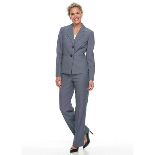 Women's Le Suit Double Button Simple Pant Suit Set