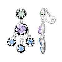 Napier Simulated Crystal Chandelier Earrings