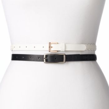 Women's SONOMA Goods for Life™ Embroidered & Scalloped 2-for-1 Belt Set