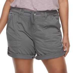 Juniors' Plus Unionbay Marty Rolled Shorts