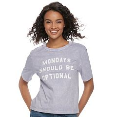 Juniors' Fifth Sun 'Mondays Should Be Optional' Graphic Tee