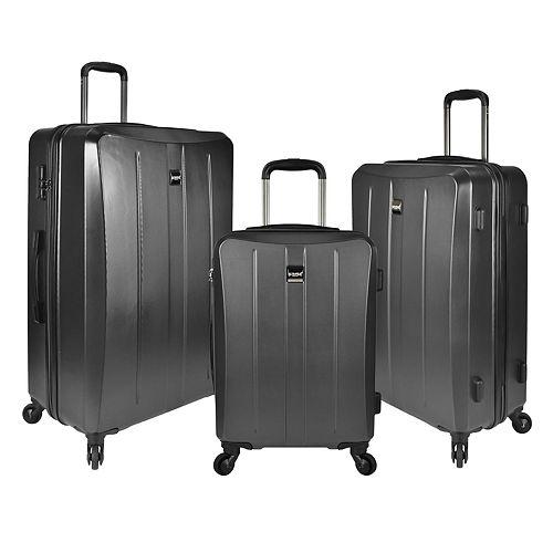 U.S. Traveler Highrock 3-Piece Hardside Spinner Luggage Set