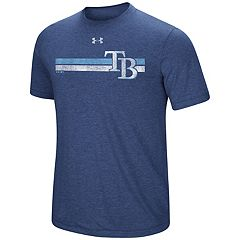 Men's Under Armour Tampa Bay Rays Distressed Stripe Tee